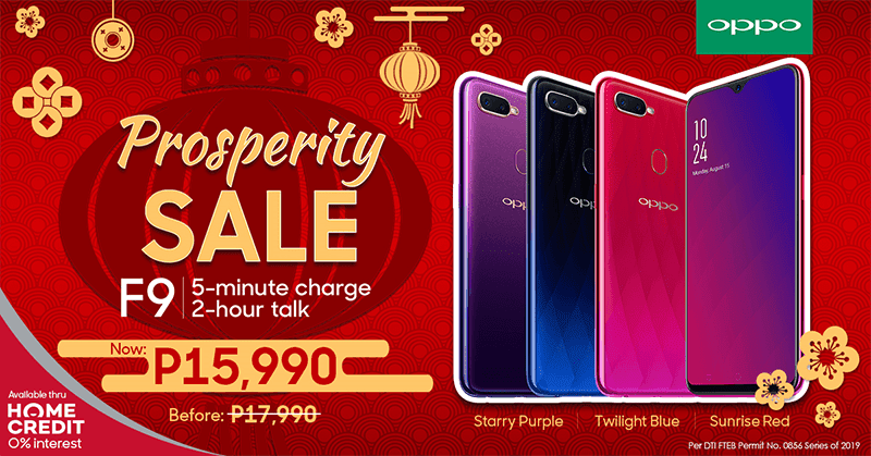Sale Alert: OPPO F9 with 6GB RAM will be down to PHP 15,990!