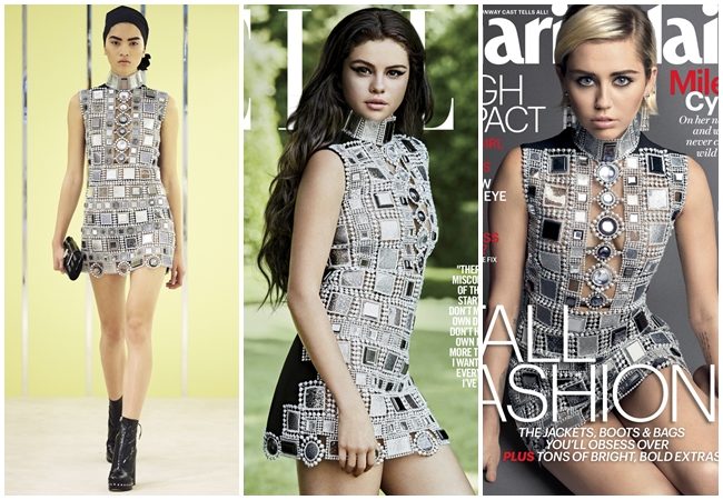 Same or Not: Miley Cyrus、Selena Gomez wore the same dress!