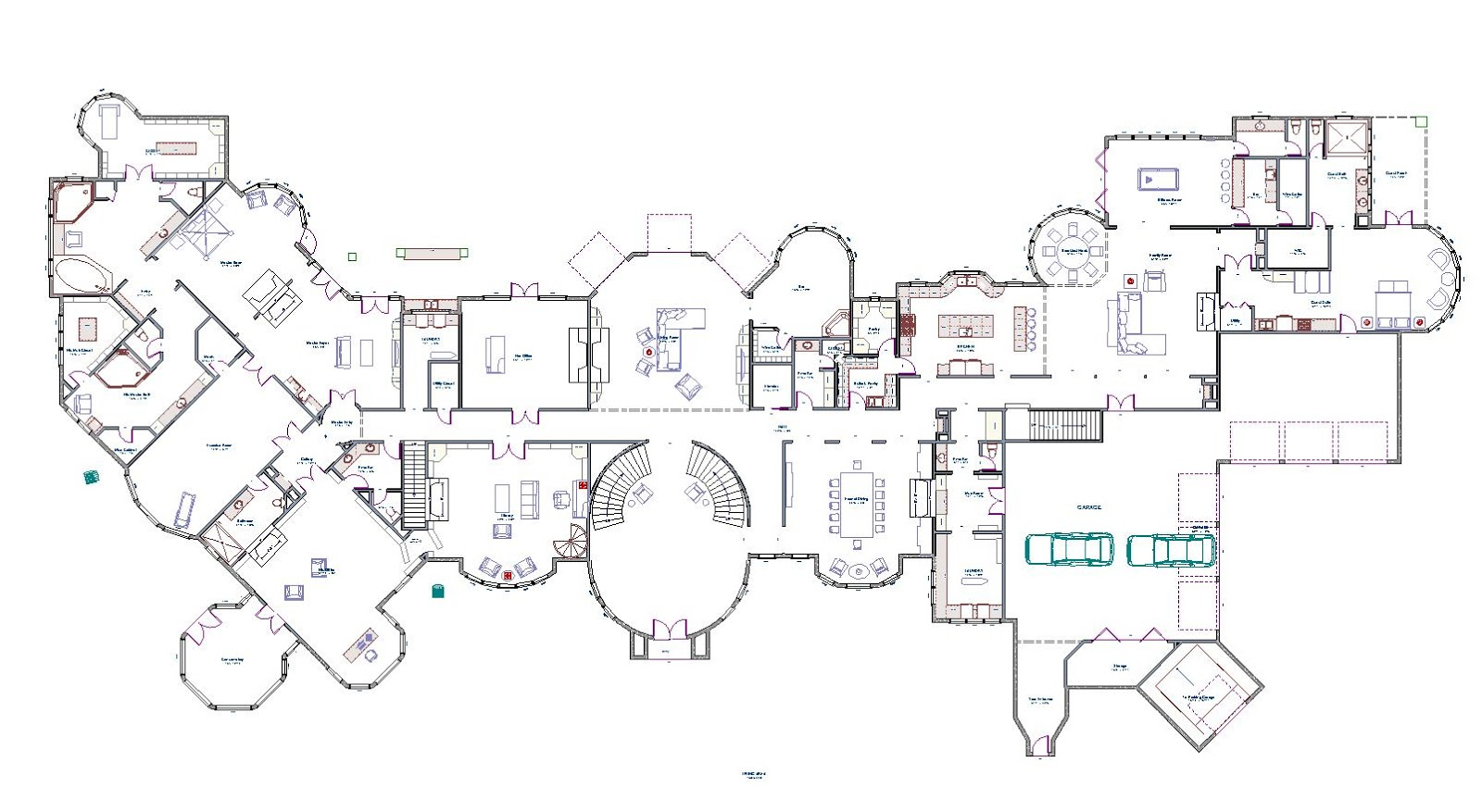 Mansions & More: Partial Floor Plans I Have Designed Part 2