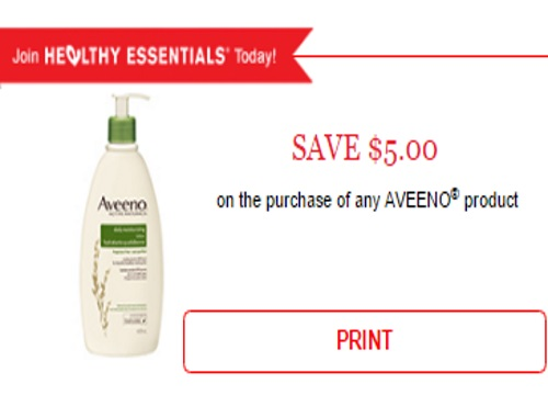Aveeno High Value $5 Off Coupon