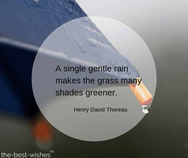 rainy quote by henry david thoreau