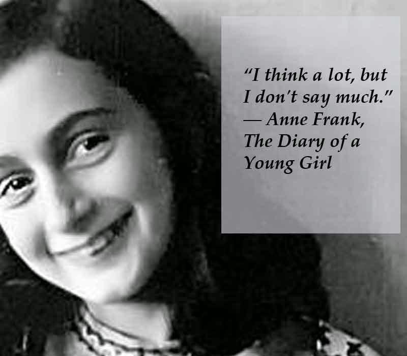 Anne Frank Quotes: Poets United: Poets United Midweek Motif