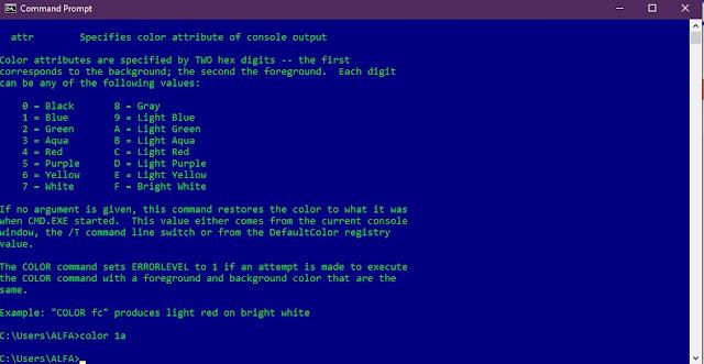 Cara Merubah Warna Background dan Tulisan CMD