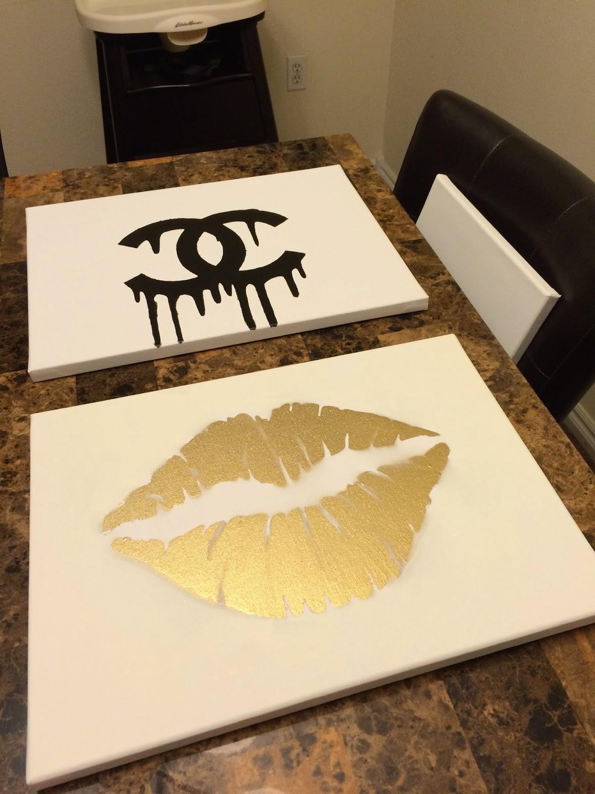 Makeupbyxtinaa : DIY Room Inspiration Chanel & Gold Lips ...