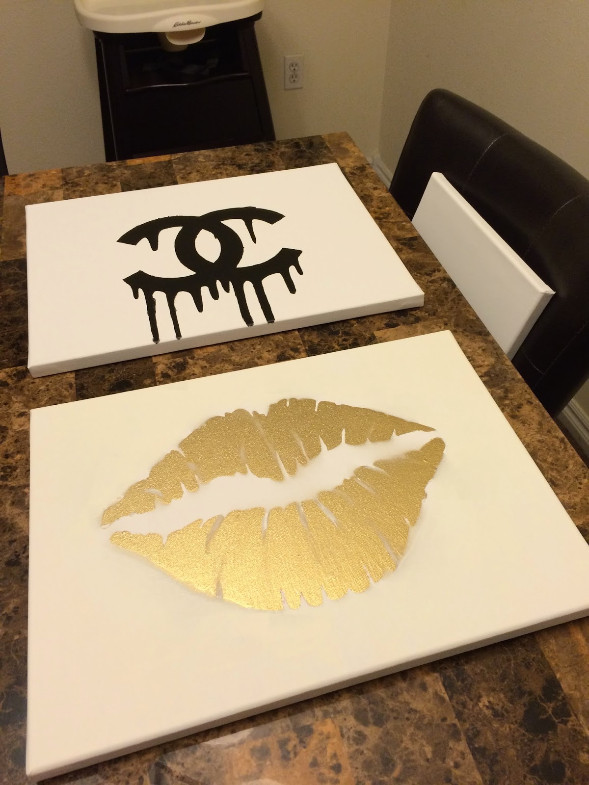 Makeupbyxtinaa Diy Room Inspiration Chanel Gold Lips