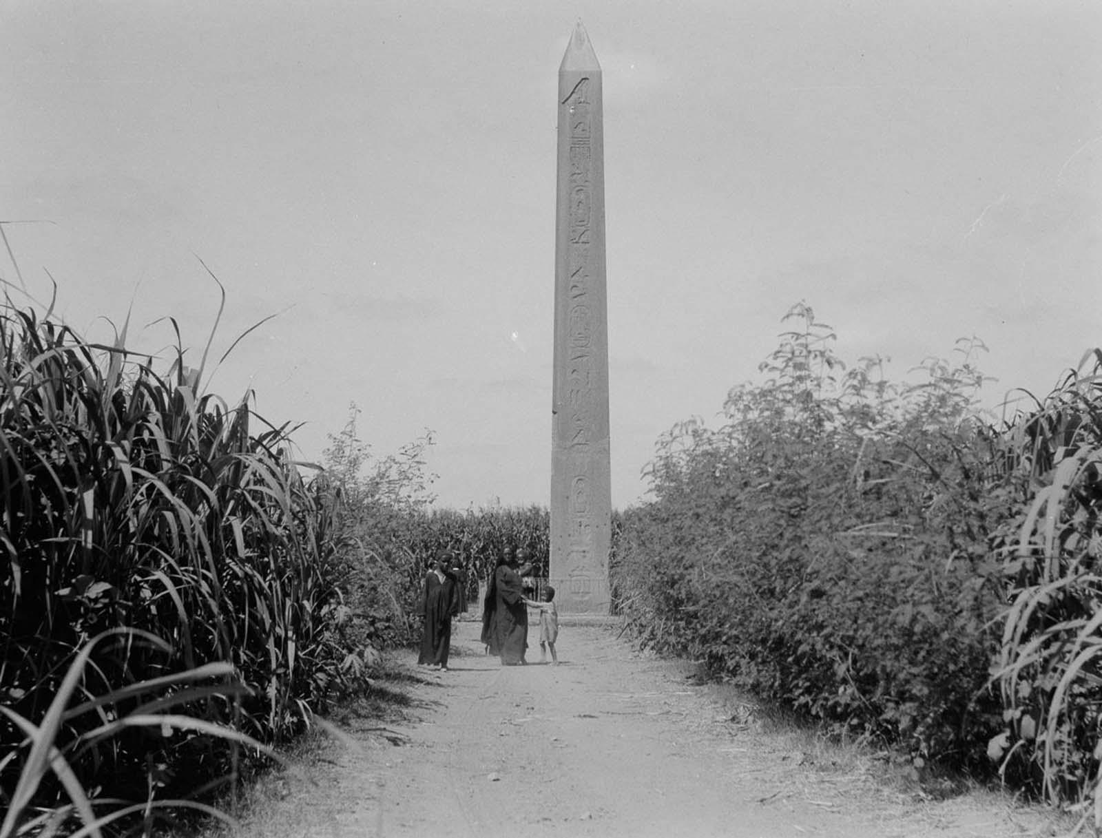 An obelisk near Cairo. 1934.