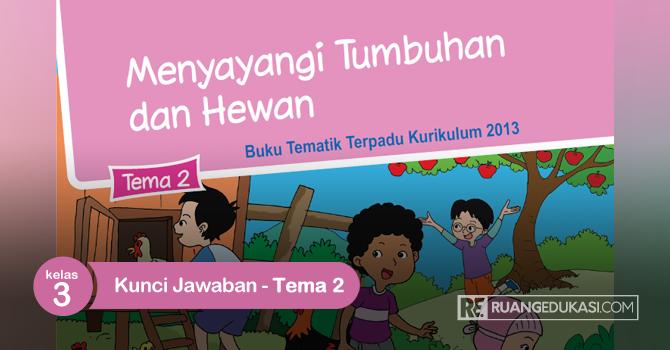 Kunci Jawaban Buku Siswa Tematik Kelas 3 Tema 2 Menyayangi Tumbuhan dan Hewan