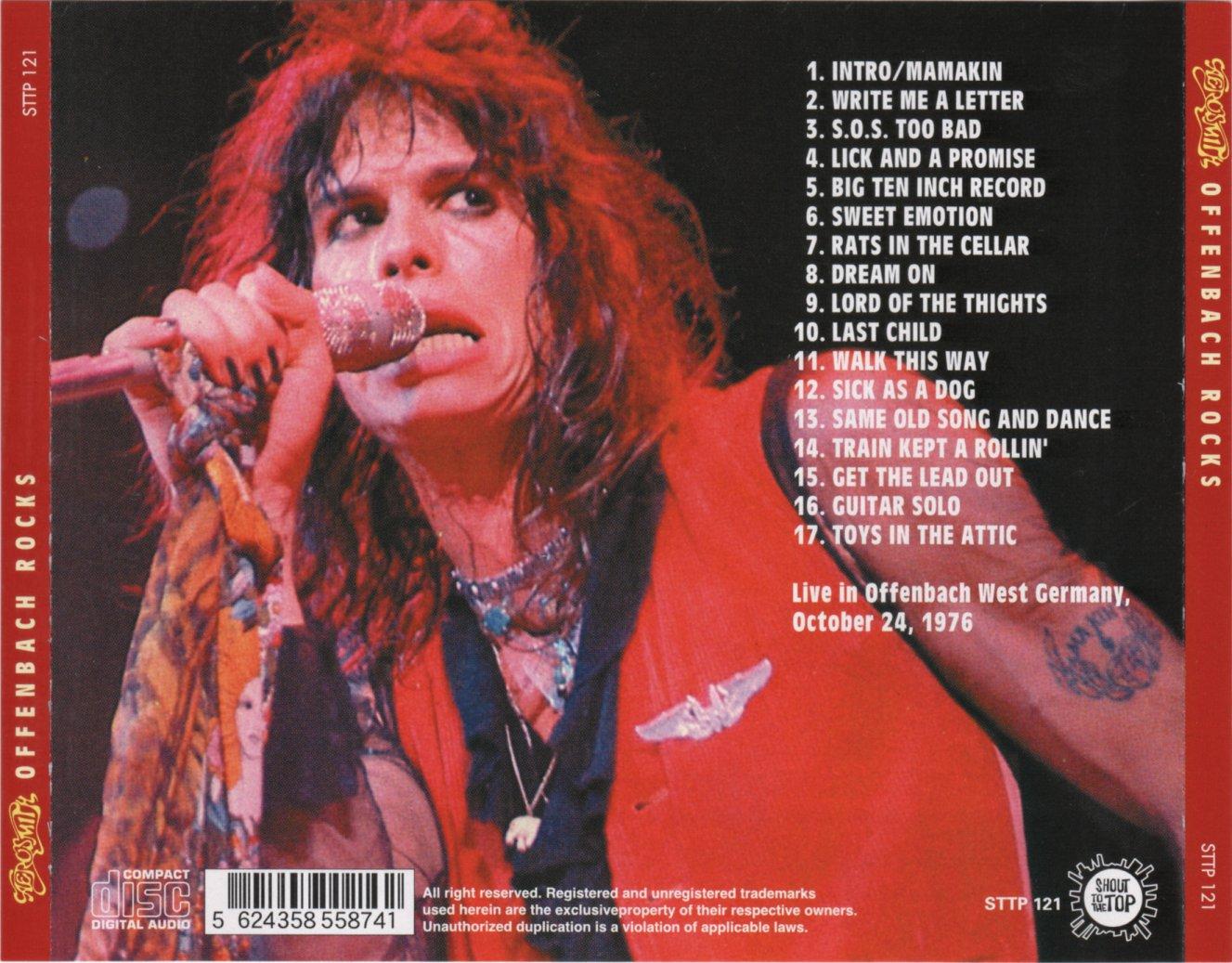 Reliquary Aerosmith 1976 10 26 Offenbach Rocks Sttp