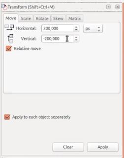 Pilihan Transform Inkscape
