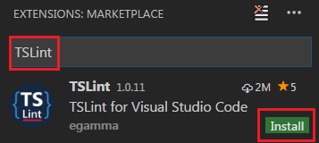 install tslint in visual studio code