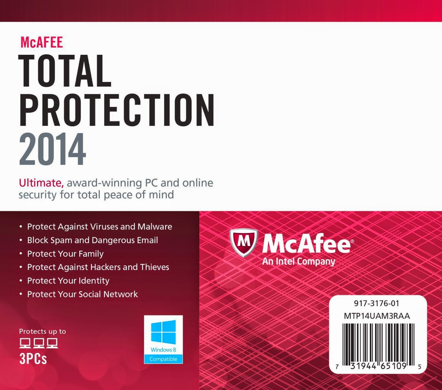 cannot open mcafee total protection