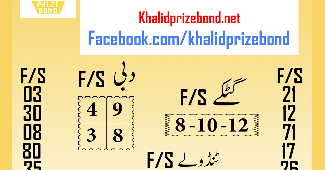 Prize Bond 7500 City Hyderabad F/S Akray And Tandolay VIP
