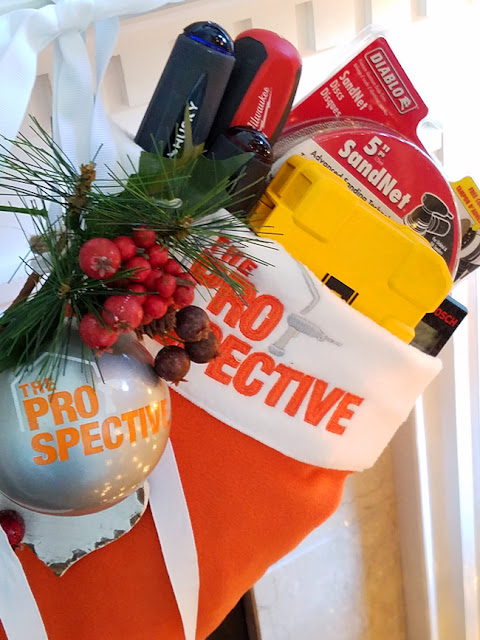 orange The Prospective Christmas stocking full of tools for the diyer