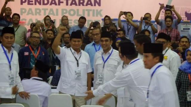 Teriakan Prabowo harus menang  di pemilu 2019 Menggema di Kantor KPU