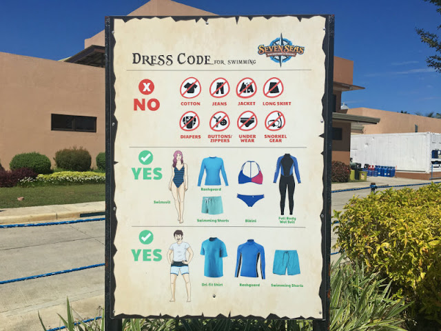 Seven Seas Dress Code Swimming Attire