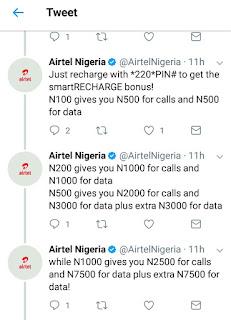 New Bonus Offer get 10x offer on Airtel smart recharge