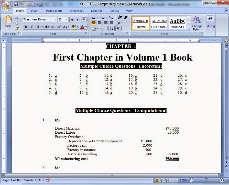 Weisinger Accounting Ch 4