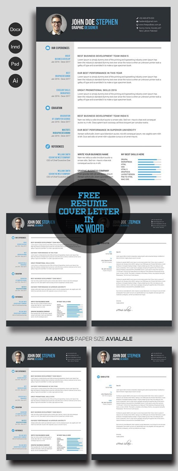 Template Resume / CV Terbaru 2017 - Free Resume & Cover Letter in Ms Word
