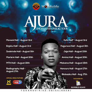 "G-Worldwide's Superstar Singer ""Ajura"" Embarks on Campus & Club Tour"
