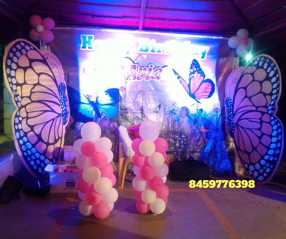 Butterfly Birthday Theme Decoration In Pune
