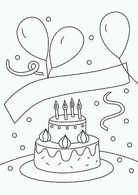 dibujos de cumpleaños para pintar, parte 2 - imÁgenes para whatsapp ® y fotos para perfiles