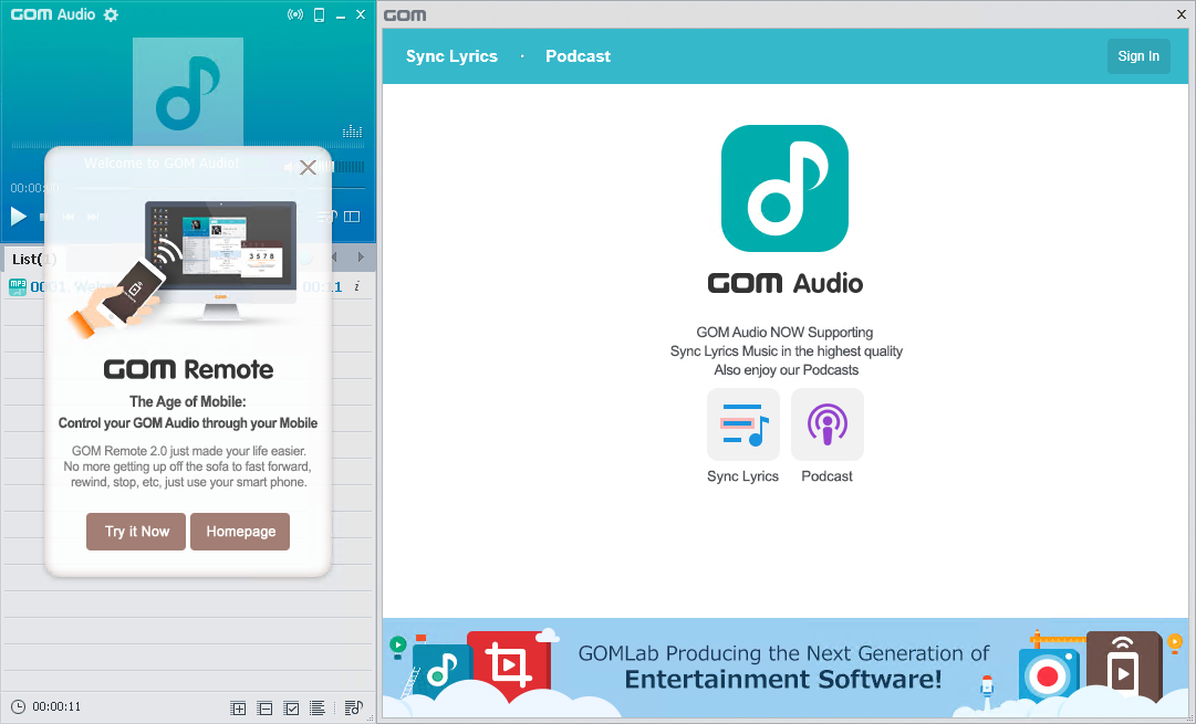 GOM Audio 2.2.26.0