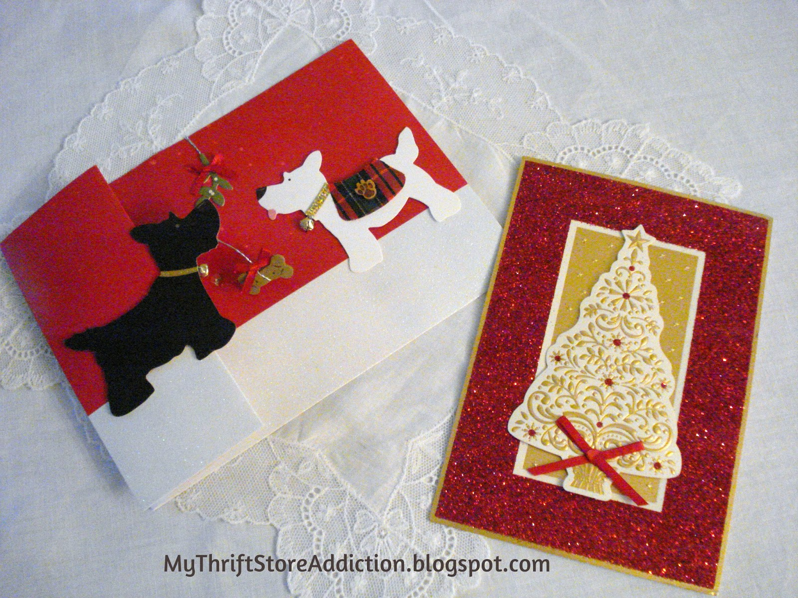 Repurpose Christmas cards as Valentines