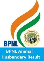 BPNL Animal Husbandry Result