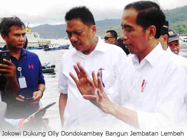 Jokowi Dukung Olly Dondokambey Bangun Jembatan Lembeh