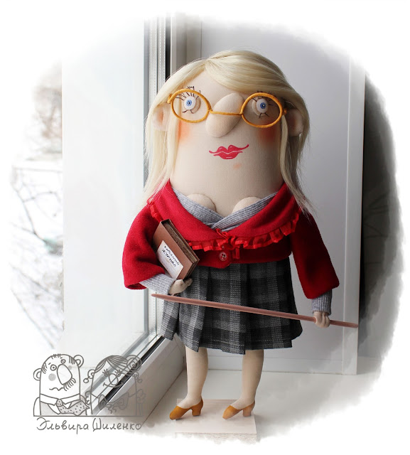 текстильная кукла учитель ручной работы