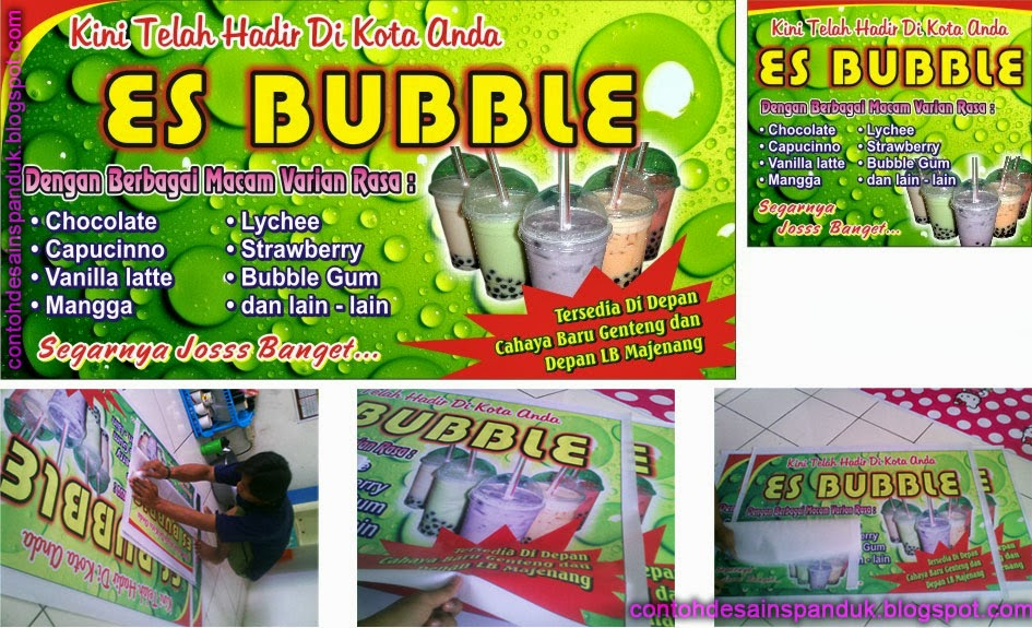 Contoh Banner Es Bubble Contoh Arro