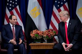 Donald Trump et égyptien Abdel Fattah al-Sissi