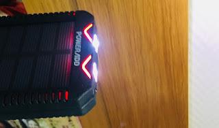 bateria solar, 12000 mah, batería externa,