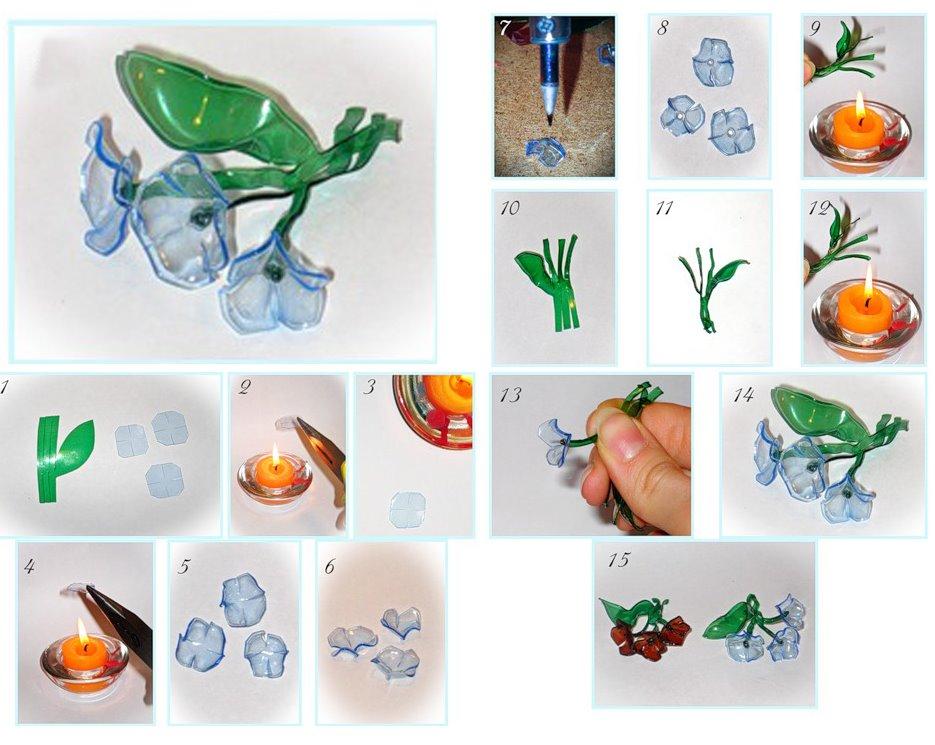 flores, flores plástico, flores de botellas, reciclar, flor, manualidades