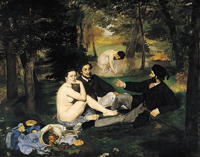 Manet's 'Luncheon on the Grass' caused quite the scandal in 1863 when it marked his debut at the French Salon. Photo: WikiMedia.org.
