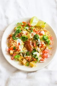 How to make shakarakand or aloo chaat recipe at www.oneteaspoonoflife.com
