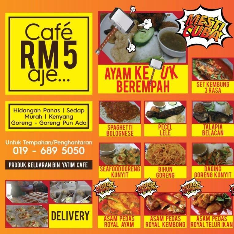 Menu Menarik di Cafe RM 5
