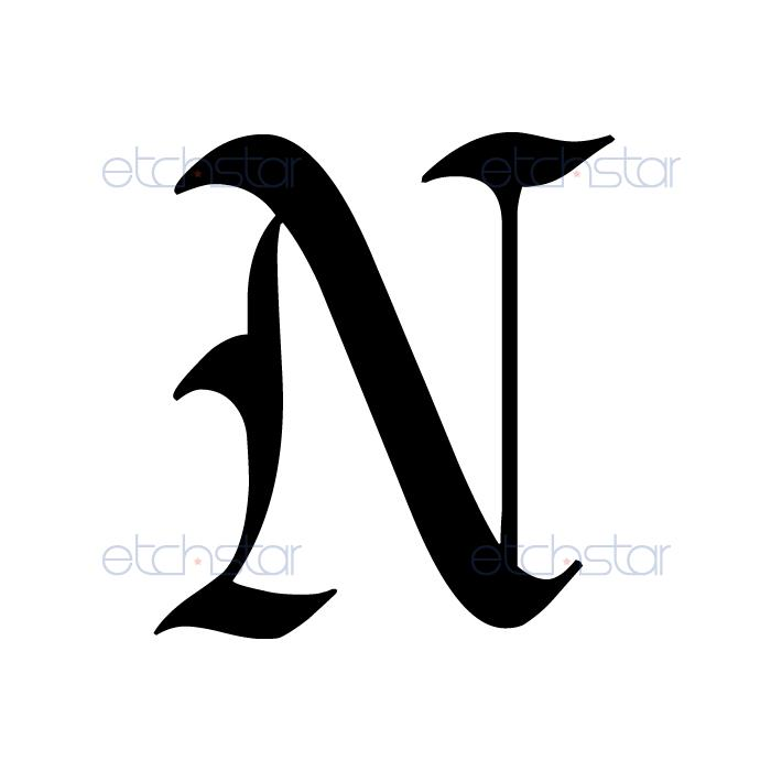 Letter N Tattoo Designs