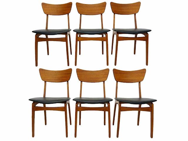 Svend Madsen Sigurd Hansen Danish Modern Teak Dining Chairs Model 60