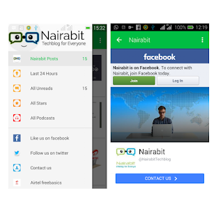 Nairabit Techblog app facebook