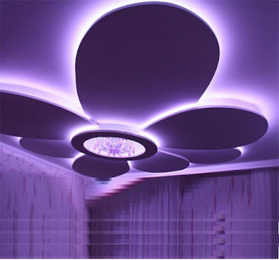 POP design for false ceilings with LED lighting for living rooms