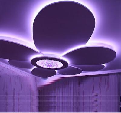 POP design for false ceilings with LED lighting for living rooms