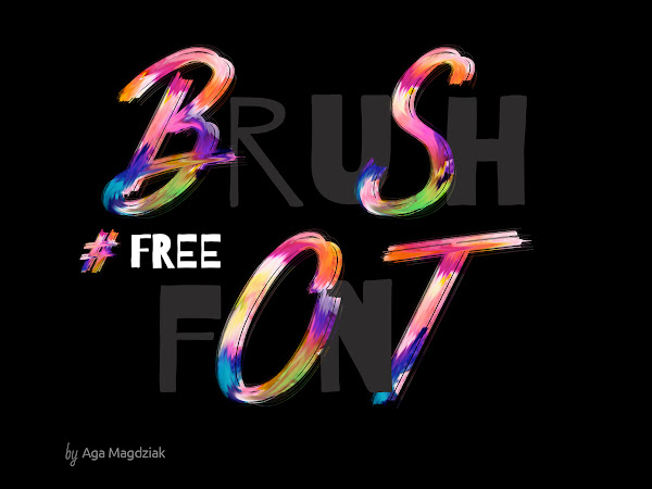 Download Colorful Brush Font PSD Free