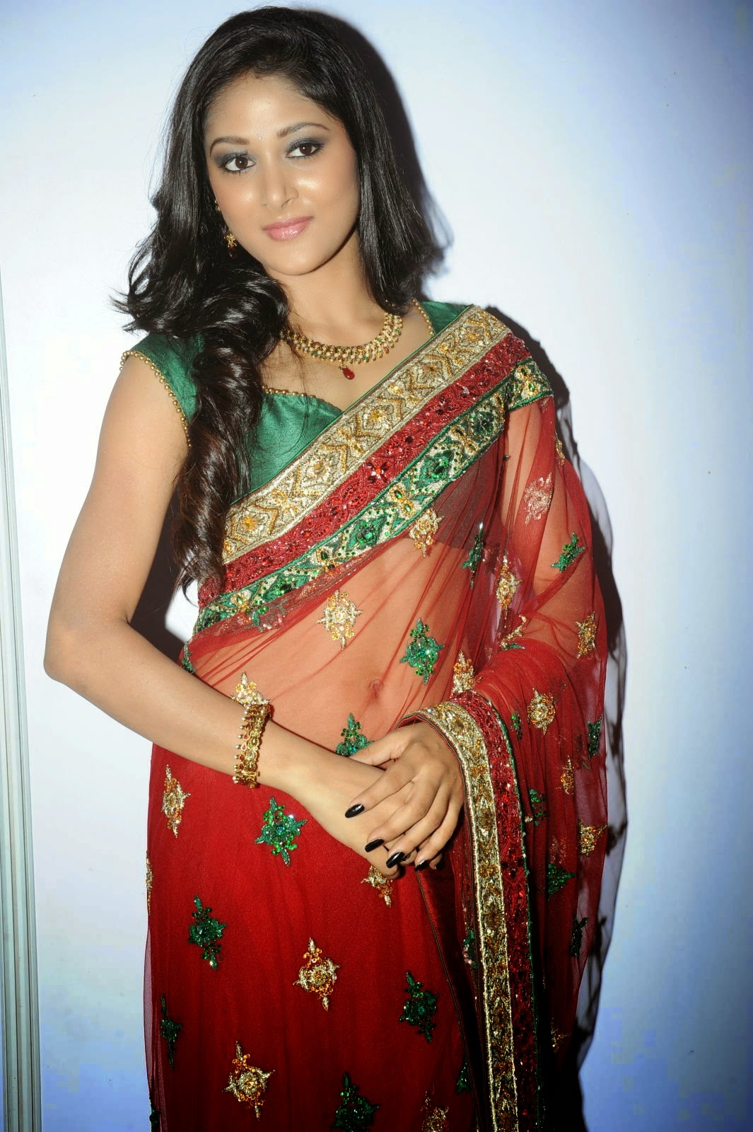 Transparent Saree: Sushma Raj Hot Navel Pics In Transparent Saree HD Photos
