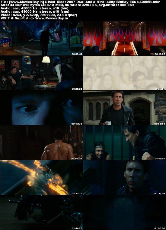 Ghost Rider 2007 Dual Audio Hindi 480p BluRay ESub 400MB worldfree4u