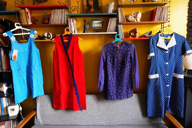 50s 60s 70s dress robe vintage années 50s 60s 70
