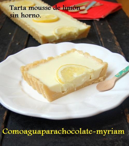 TARTA MOUSSE DE LIMÓN SIN HORNO