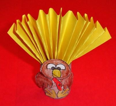 Learning Ideas Grades K 8 3d Turkey Tp Roll Craft