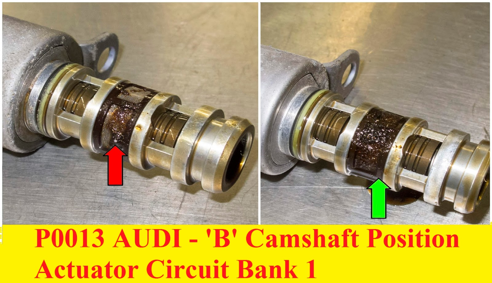 P0013 AUDI - 'B' Camshaft Position Actuator Circuit Bank 1 ~ Cars-Fault