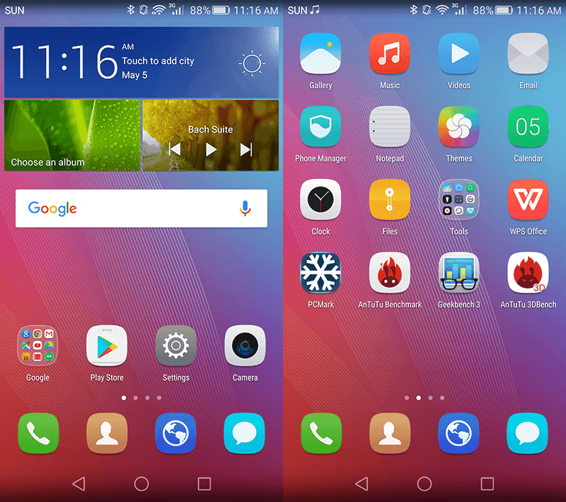EMUI on Android 5.1 Lollipop OS